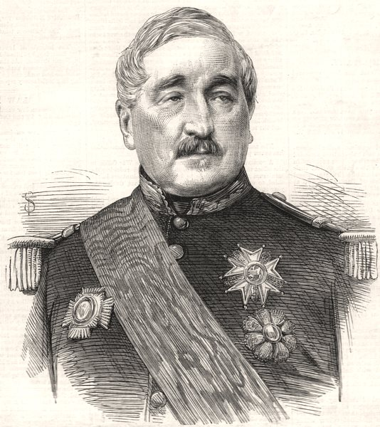 Associate Product General Montauban, Count de Palikao, the new Prime Minister of France, 1870