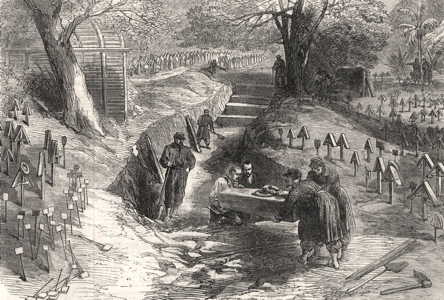 Associate Product Siege of Strasbourg - botanic gardens, used as a burial ground. Bas-Rhin, 1870