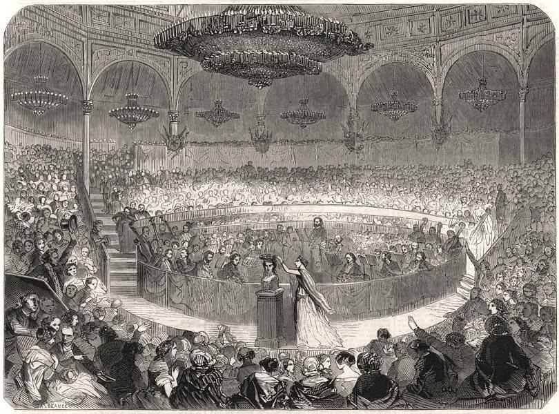 Associate Product Paris Schiller Festival. Cirque de L'Imperatrice, Champs Elysees, print, 1859