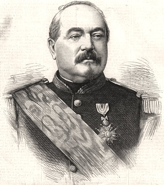 Associate Product Marshal Bazaine, Commander-in-Chief of the French Army at Metz. Moselle, 1870