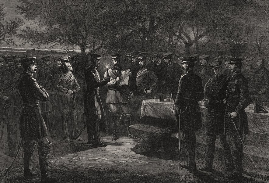 Associate Product The war: Crown Prince Of Prussia's HQ. News arriving by field Telegraph, 1870