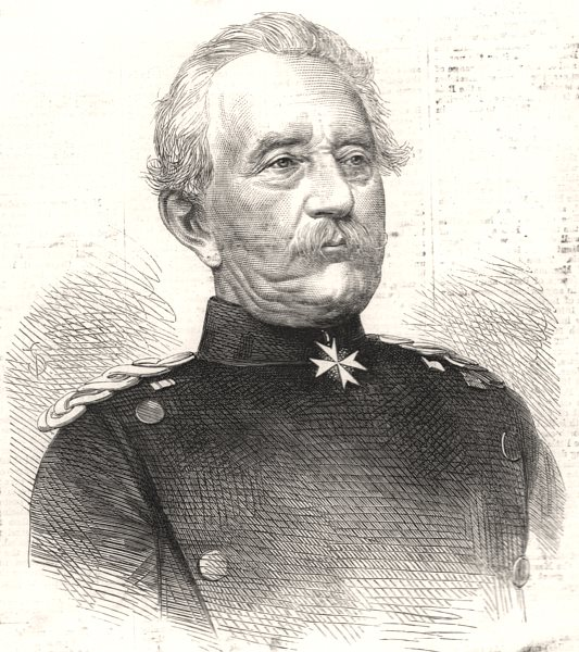 Associate Product General Steinmetz, commander of the First Prussian Army, antique print, 1870
