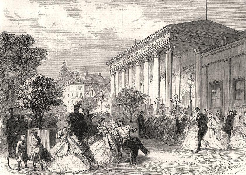 Associate Product The season at Baden-Baden: The Place de la Conversation. Germany, print, 1865