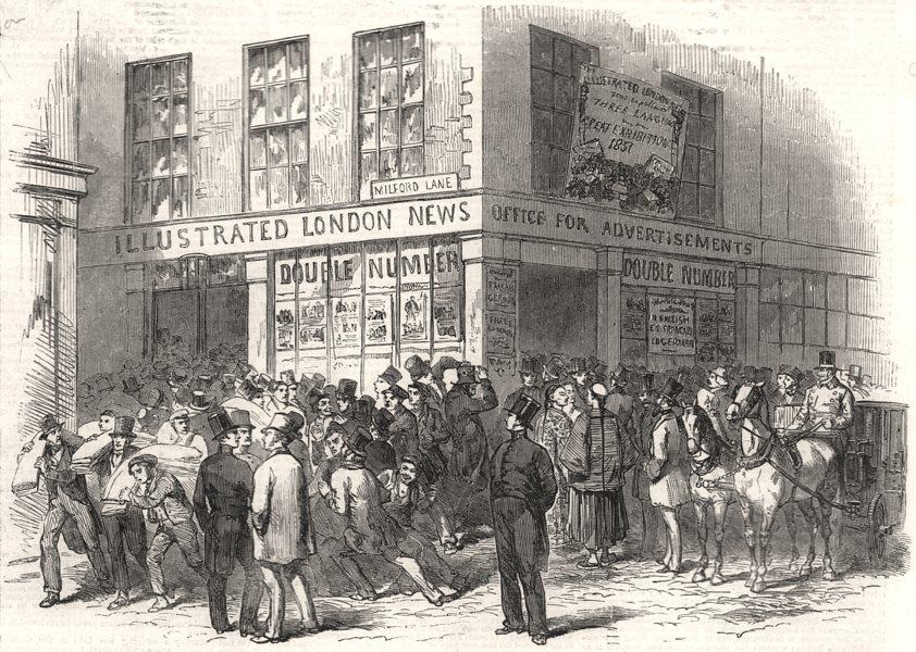 Associate Product No. 198, Strand. London, antique print, 1851