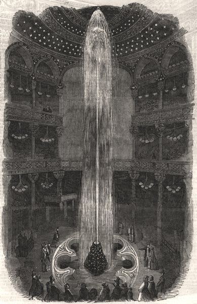 Associate Product The Luminous Fountain, at the Panopticon, Leicester-Square. London, print, 1854
