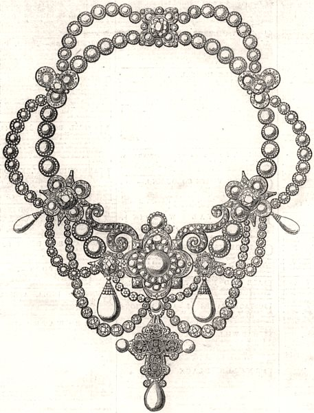 Associate Product Keepsake presented to the Princess by the King of Denmark, antique print, 1863