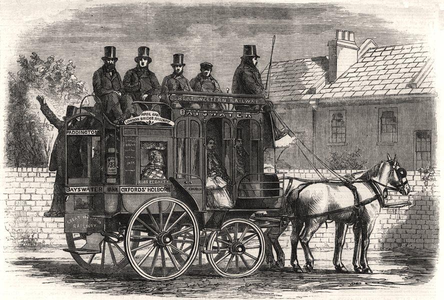 Associate Product De Tivoli's patent omnibus. London, antique print, 1860