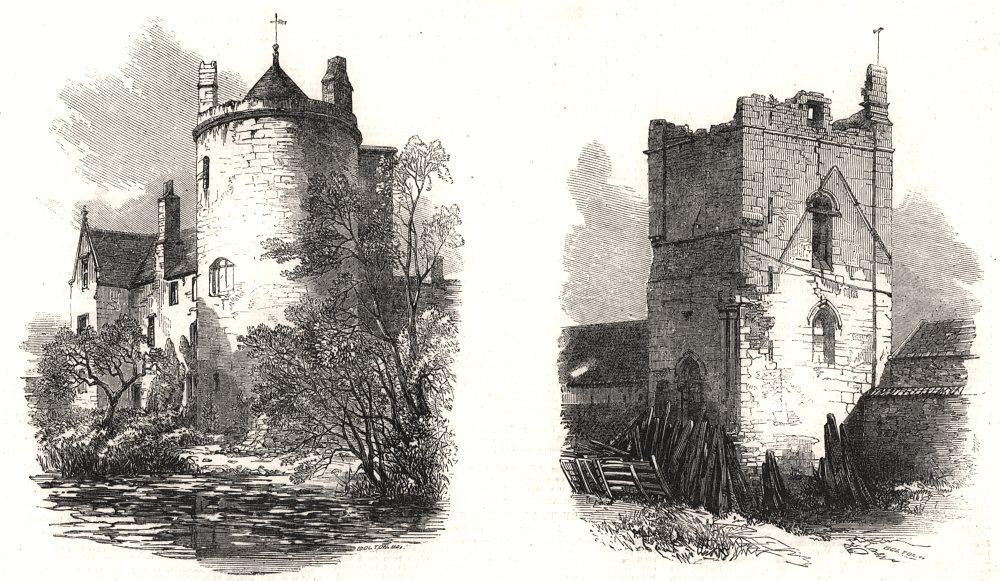 Associate Product Lincoln: Somerton Castle; Temple Bruer. Lincolnshire, antique print, 1857