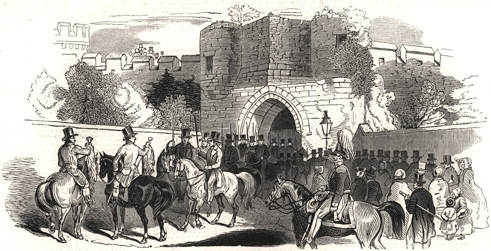 Associate Product Lincoln Castle - assembling of the Sheriff's procession. Lincolnshire, 1845