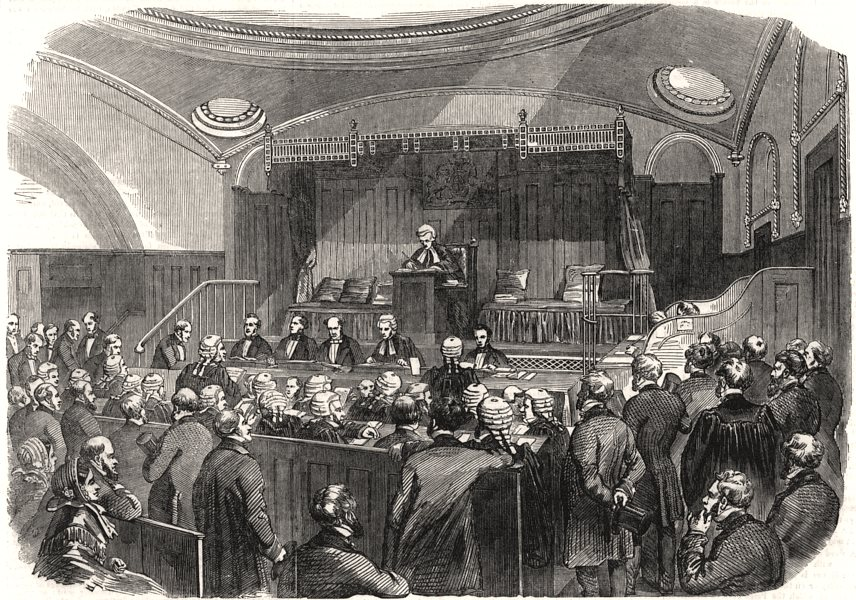 The new Court for Divorce and Matrimonial Causes, Westminster Hall. London, 1858