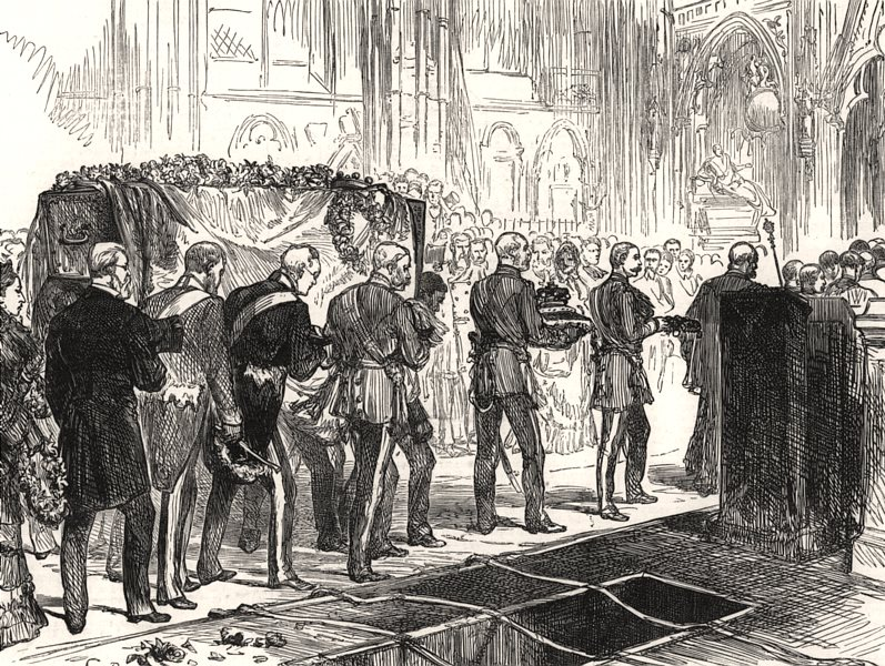 Associate Product Funeral of Lord Lawrence in Westminster Abbey on Saturday last. London, 1879