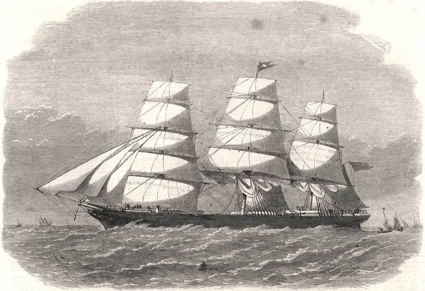 Associate Product The clipper-ship the Royal Edward, built for the Red Cross Australian Line, 1864