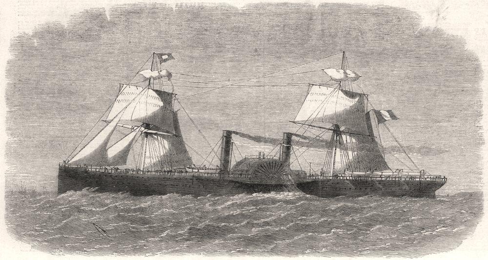 Associate Product The French Transatlantic Company's steam-packet Washington. France, print, 1864