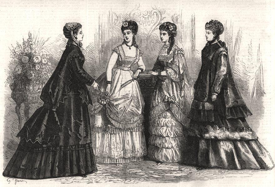 Associate Product Paris fashions for December, antique print, 1868