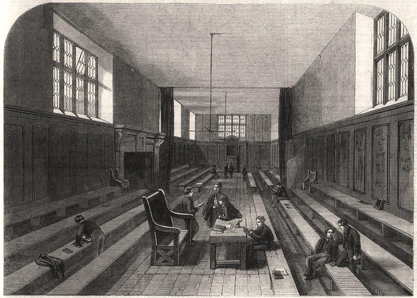 Associate Product Fourth-form room at Harrow School. London, antique print, 1862