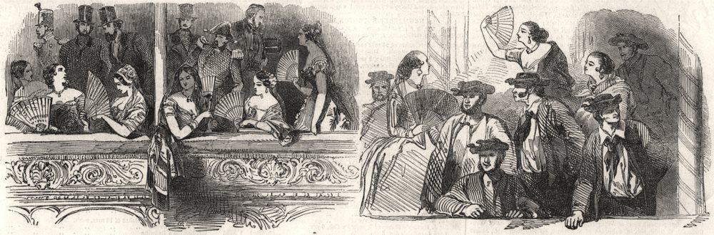 Associate Product Al a Sombra; Al Sol. Spain, antique print, 1846