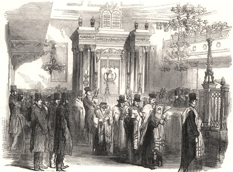 Associate Product The Jewish Synagogue consecration, St. Albans Place, St. James's. London, 1851