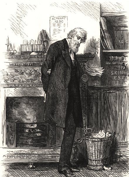Associate Product The family solicitor, antique print, 1880