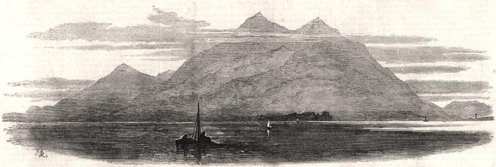 Associate Product Island of Mull. Scotland, antique print, 1871