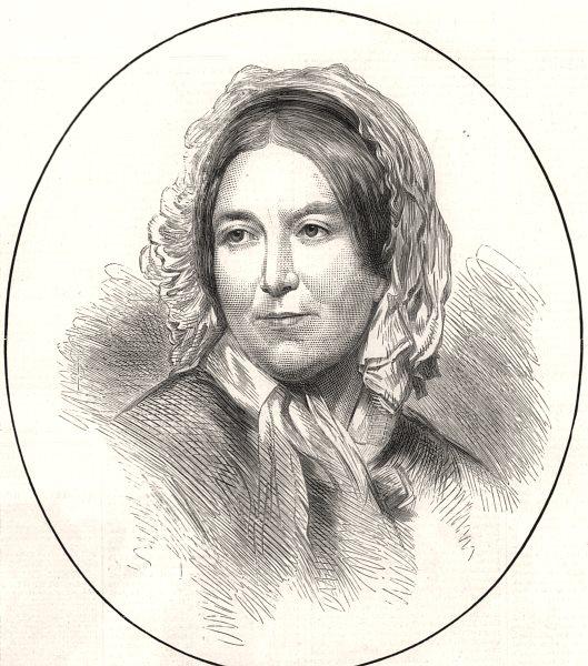Associate Product The late Harriet Martineau. UK, antique print, 1876