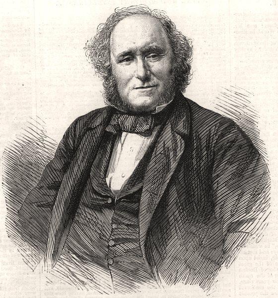 Associate Product The late Mr. Lorimar, Dean of Guild, Edinburgh. Scotland, antique print, 1865