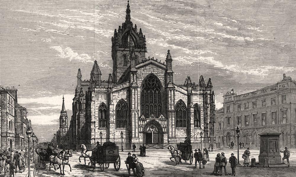 Associate Product St. Giles's church, Edinburgh, restored by Dr. William Chambers. Scotland, 1883