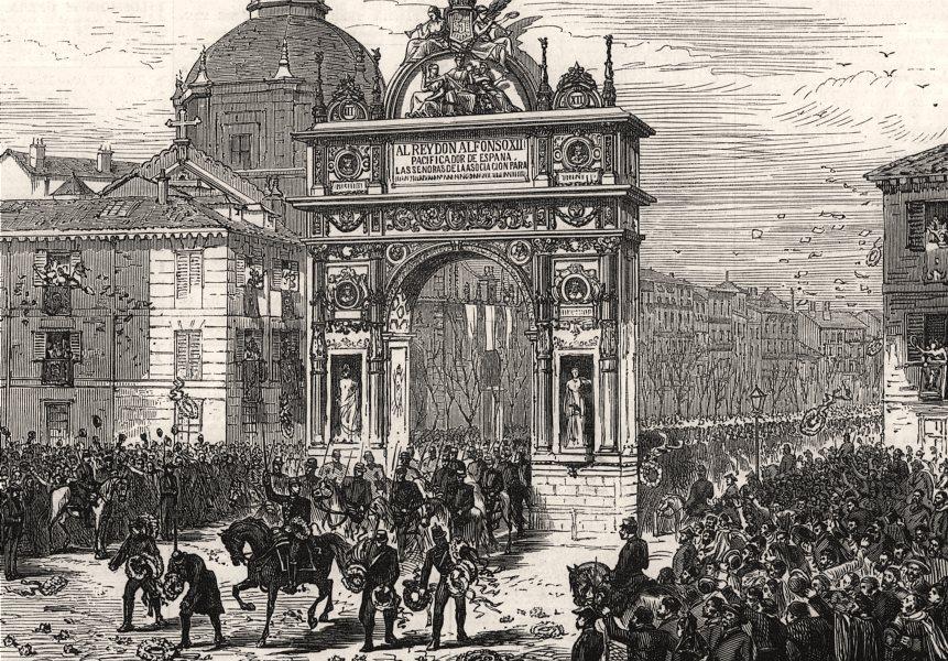 Associate Product Alfonso XII's entry into Madrid: triumphal arch, Calle de Alcalá. Spain, 1876