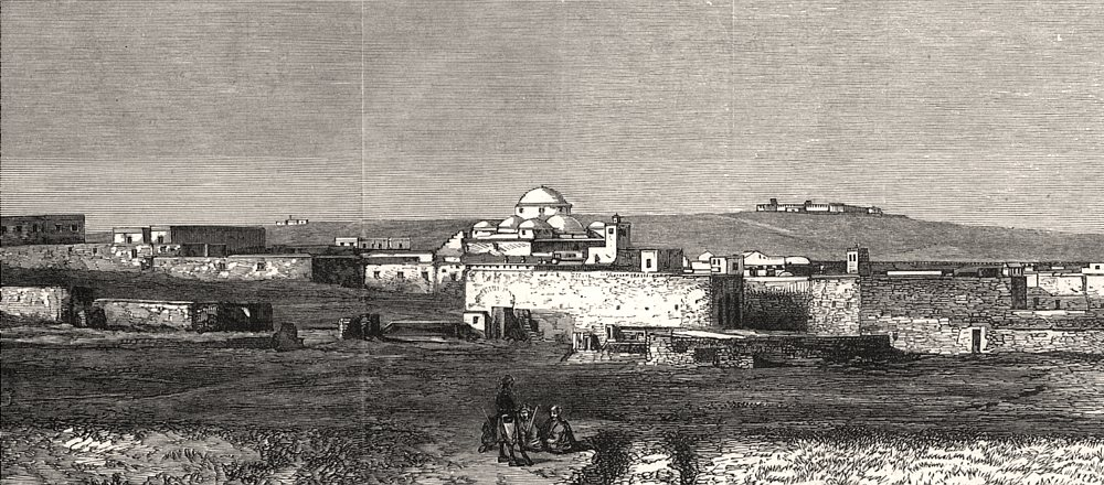 Associate Product The French occupation of Tunis: The City of Tunis. Tunisia, antique print, 1881