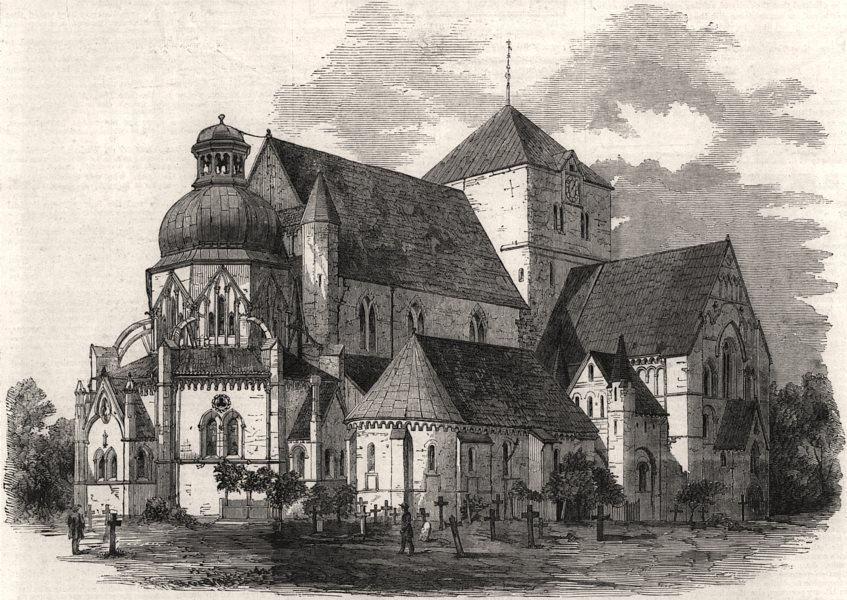 Associate Product The cathedral at Trondheim, in which the monarchs of Norway are crowned, 1860
