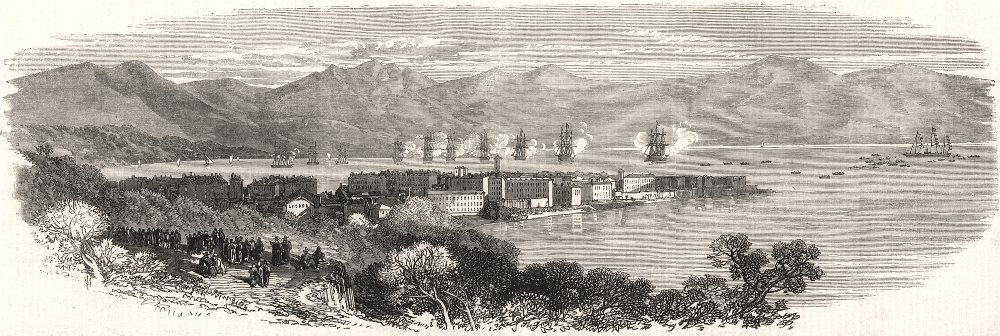 Associate Product The imperial visit to Corsica: ships saluting the Empress at Ajaccio, 1869