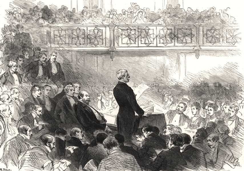 Associate Product Meeting at St. James's to welcome Mr Stanley. The Prince of Wales, print, 1890