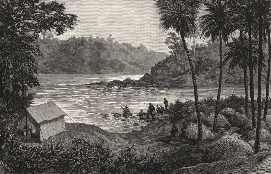 Associate Product Captain Nelson's starvation camp, confluence of the Ituri & Ihuri. Congo, 1890