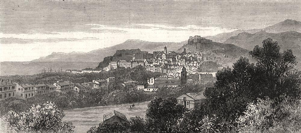 Associate Product The Riviera: Ventimiglia. Italy, antique print, 1882