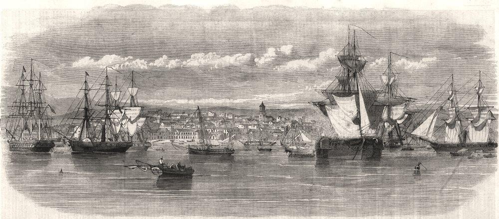Associate Product Algeciras. Spain, antique print, 1859