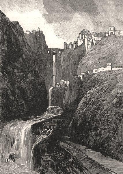 Associate Product The destructive floods in Spain: Ronda, near Malaga, antique print, 1891