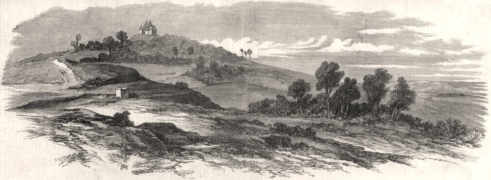 Associate Product Cheveuges Hill, where the King of Prussia watched the Battle of Sedan, 1870