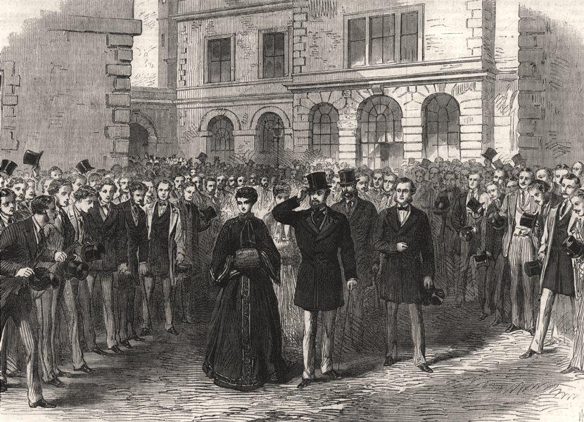 Associate Product The Prince and Princess Of Wales at St. Bartholomew's Hospital. London, 1868