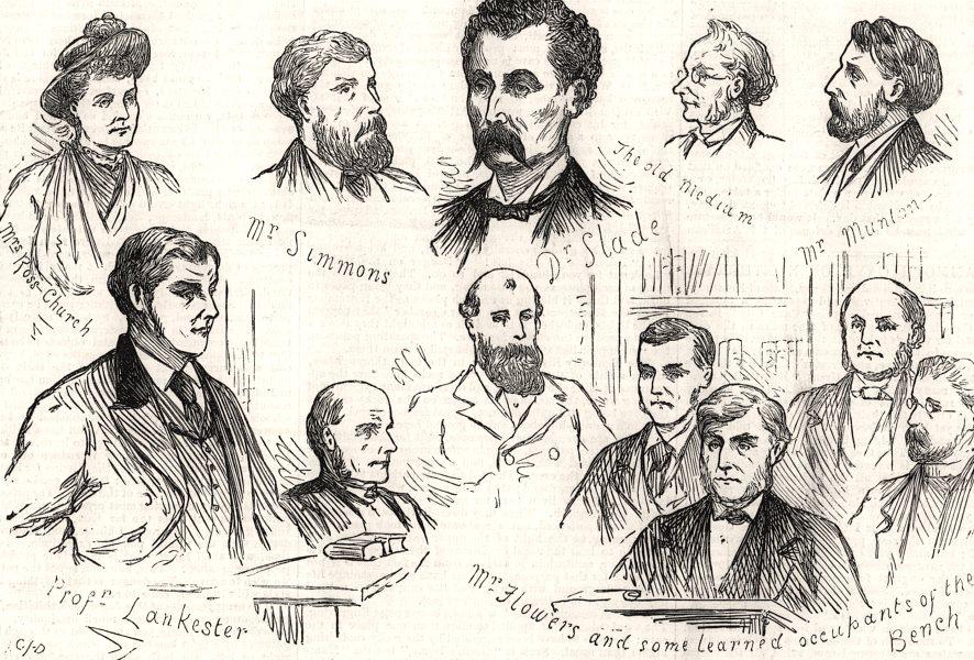 Associate Product Prosecution of the spirit-medium Slade, at Bow Street police court. London, 1876