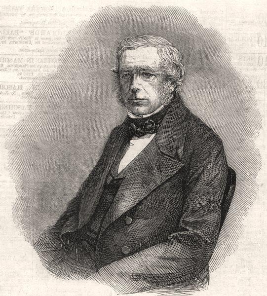 Associate Product Rev JS Henslow, Professor of Botany at Cambridge University, antique print, 1861