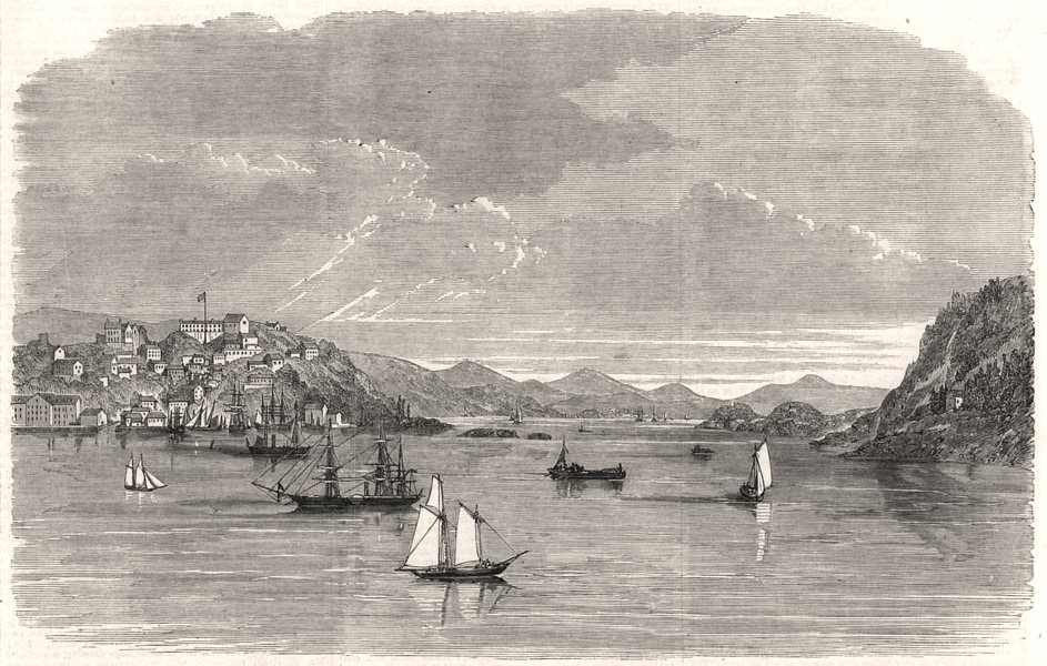 Associate Product Eastport, Maine the rendezvous of Fenians in the United States, old print, 1866