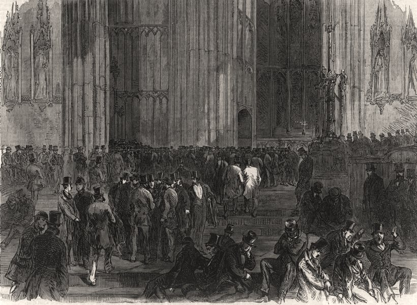 Associate Product Westminster Hall on the night of the division on the Reform Bill. London, 1866