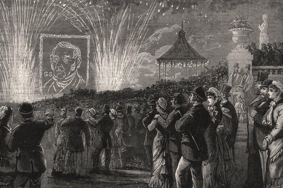 Associate Product George Stephenson Festival: Fireworks, Leazes Park, Newcastle-on-Tyne, 1881