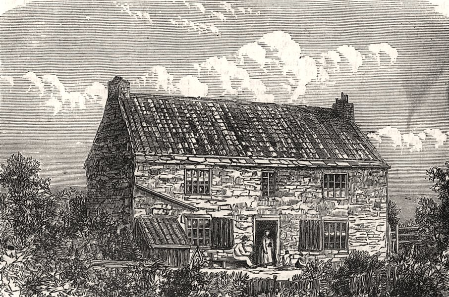 Associate Product Street House, Wylam, the birthplace of George Stephenson. Northumberland, 1881