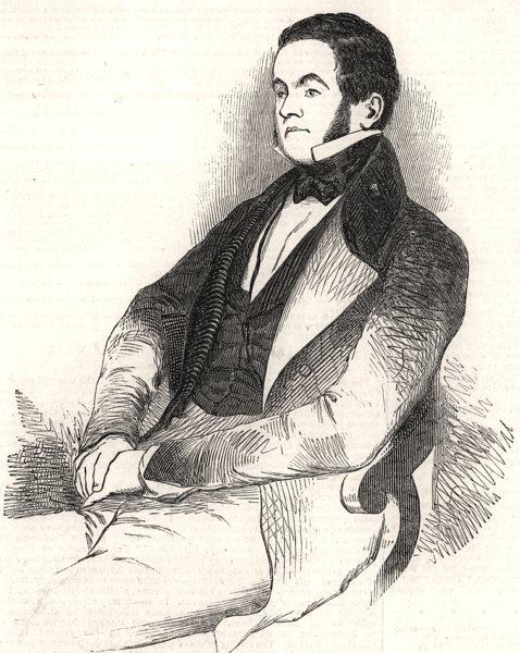 Associate Product Mr. Williams, M. P. Portraits, antique print, 1846