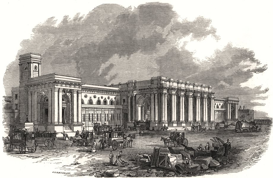 Associate Product The Great Central Railway station at Newcastle-upon-Tyne. Northumberland, 1850