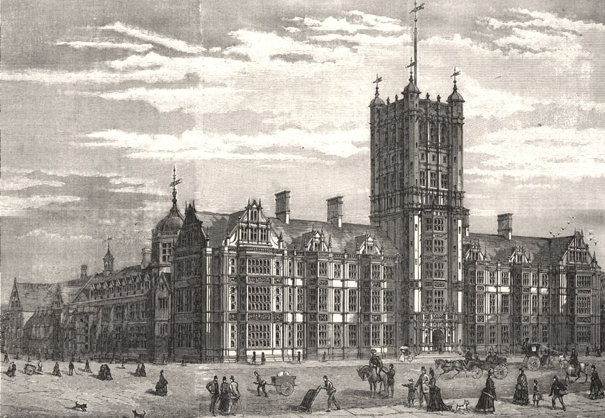 Associate Product The Durham College of Science, Newcastle-on-Tyne. Northumberland, print, 1888
