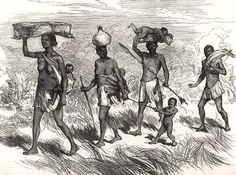 Associate Product Lieutenant Cameron's sketches in Africa: A native family on the march, 1876