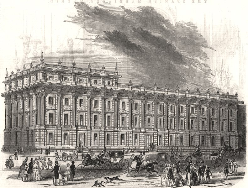 Associate Product The new Privy Council office, Whitehall. Charles Barry. London, old print, 1846