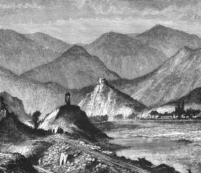 HUNGARY. Mining District Kremnitz(hills Magura) c1885 old antique print