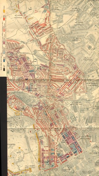 Associate Product CAMDEN Charles Booth poverty map Kentish Town Primrose Hill Regent's Park 1902
